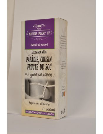 Extract din Fructe de Soc, Crusin si Papadie 500ml